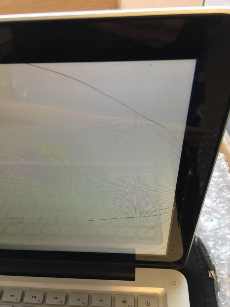 A1278 MacBook Pro Glass Cracked