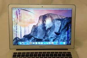 MacBook Air with LCD Damage