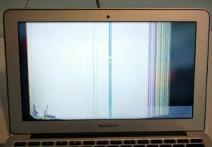 MacBook Air 11 with Damaged LCD Screen