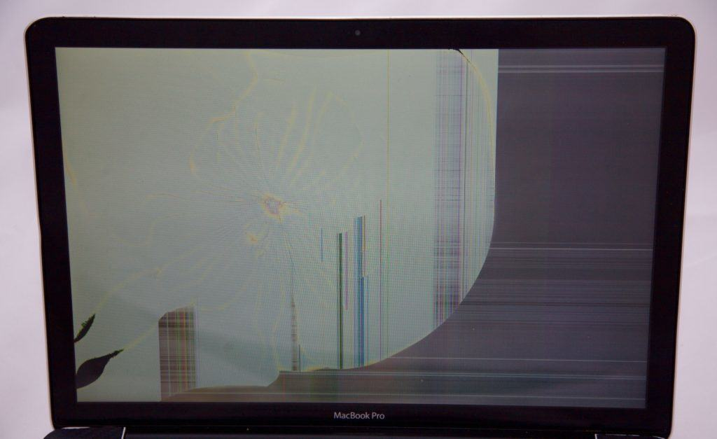 2008 MacBook Pro Screen Crack. Non-retina display damage.