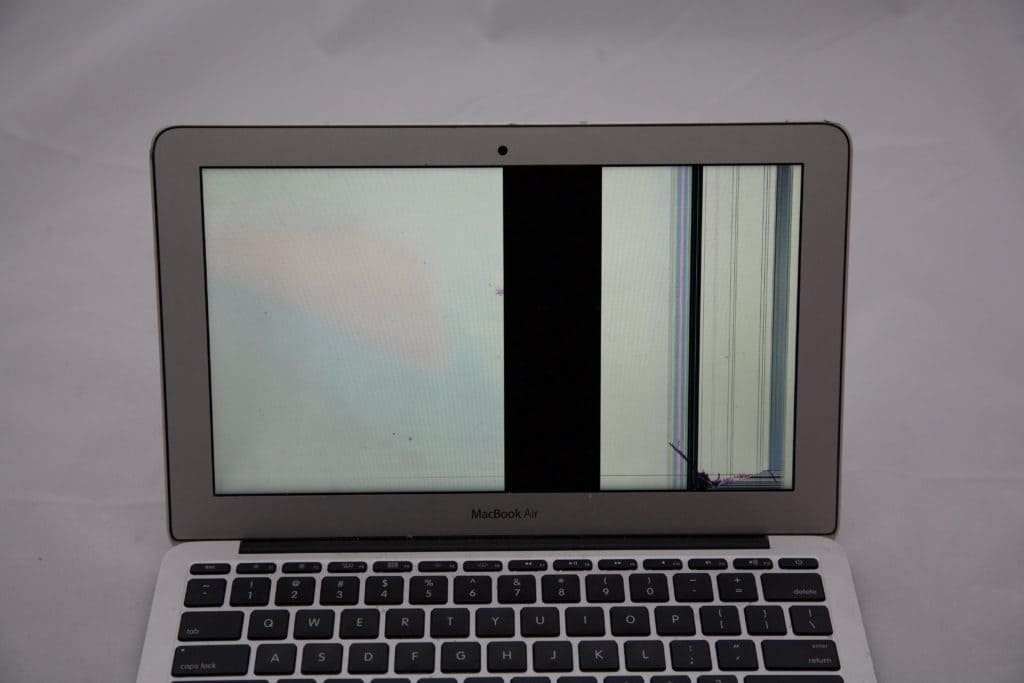Damaged MacBook LCD Panel